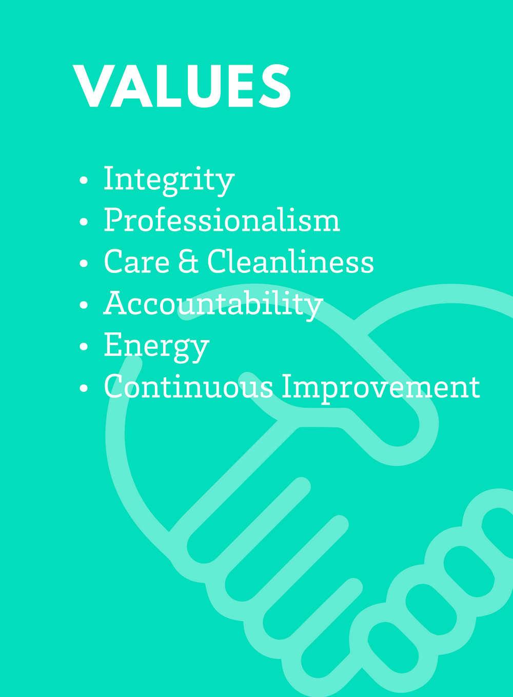 Vision, Mission, Values